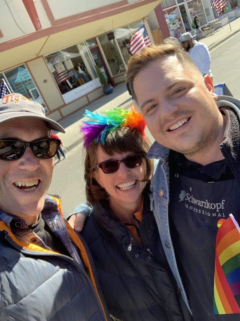 Anita Johnston, Mitch Richards at the  Whidbey Island Pride, Holland Happening